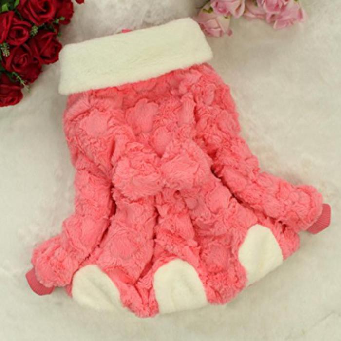 manteau-bébé-fille-joli-modèle-rose-et-blanc