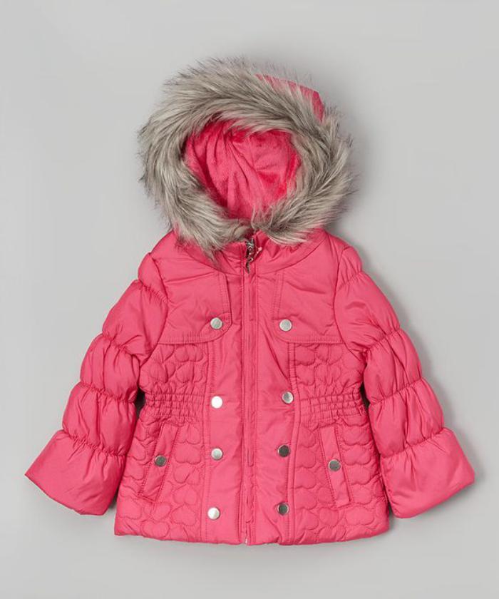 manteau-bébé-fille-manteau-bébé-rose-avec-capuche