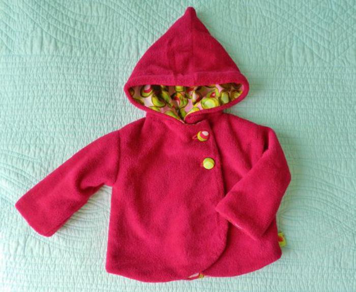 manteau-bébé-fille-rose-super-moelleux
