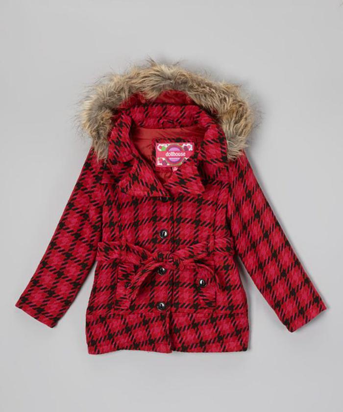 manteau-bébé-fille-vetement-bébé-en-tweed