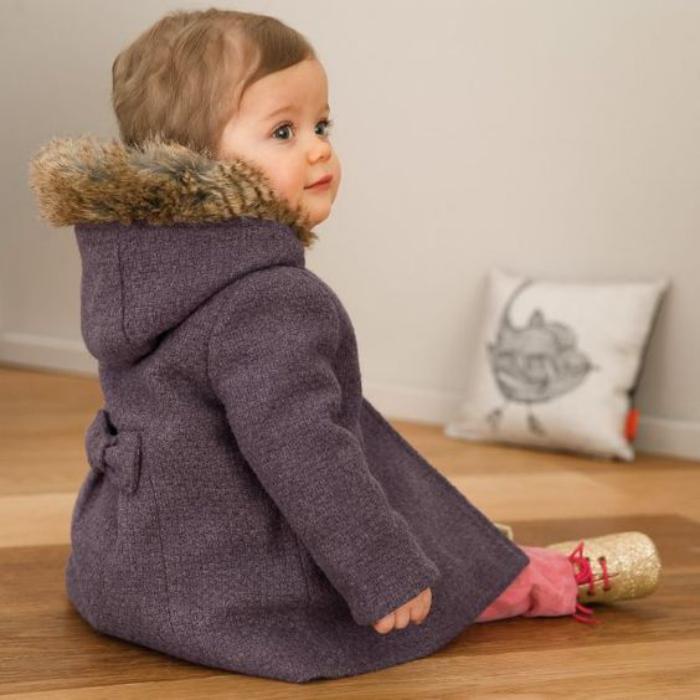 le manteau b b fille en 42 photos mignonnes. Black Bedroom Furniture Sets. Home Design Ideas