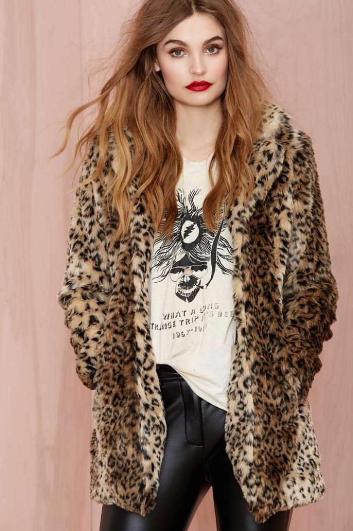 manteau-en-fausse-fourrure-prints-léopard