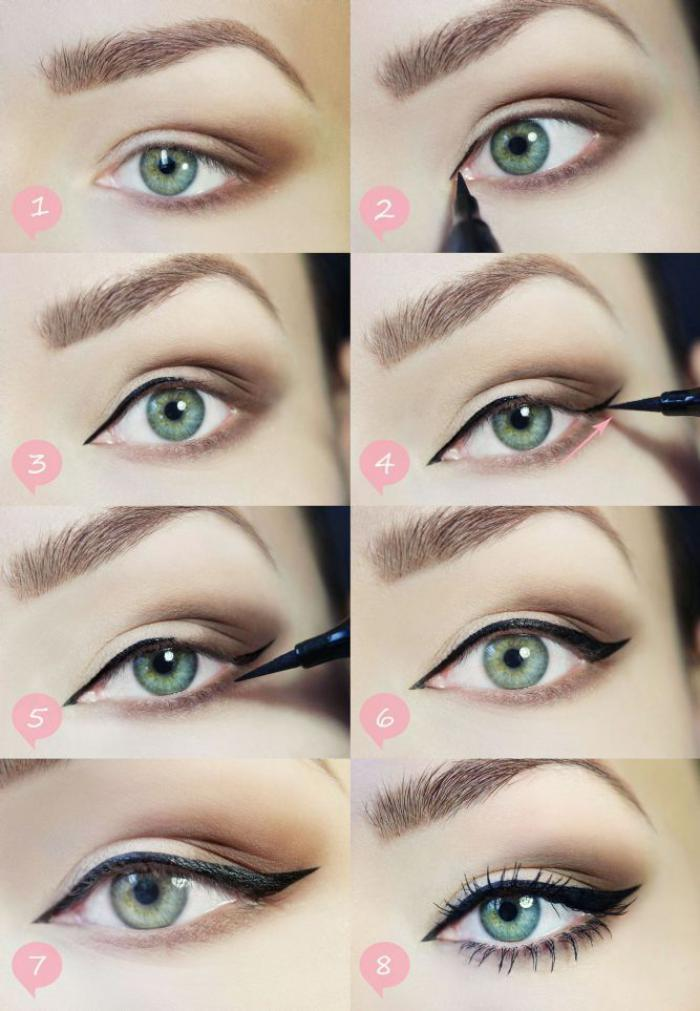 maquillage,simple,tuto,maquillage,yeux,bleus