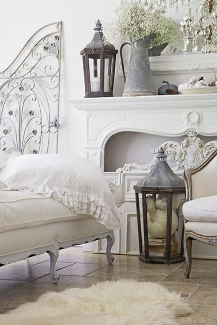meuble-gustavian-tapisserie-kitch-meubles-kitch-tapis-blanc-dans-le-salon-shabby-chic