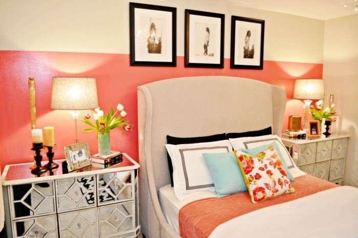 40 id es pour la d coration magnifique en couleur corail. Black Bedroom Furniture Sets. Home Design Ideas