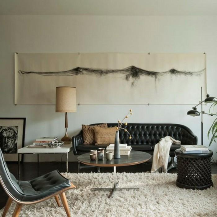 meuble-vintage-pas-cher-la-redoute-canape-design-cuir-superbe-canapé