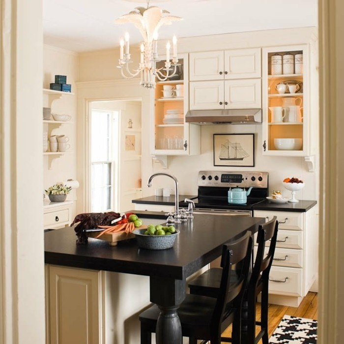 Attrayant Amenager Une Toute Petite Cuisine #6: Mini-cuisine-ikea-aménager-une-toute-petite-cuisine-