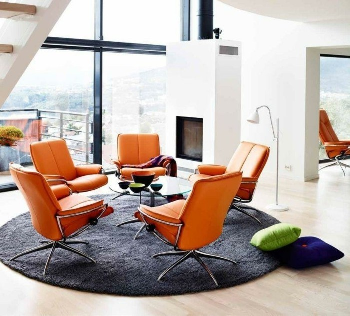 moderne-chaises-design-scandinave-fauteuil-designer-en-orange