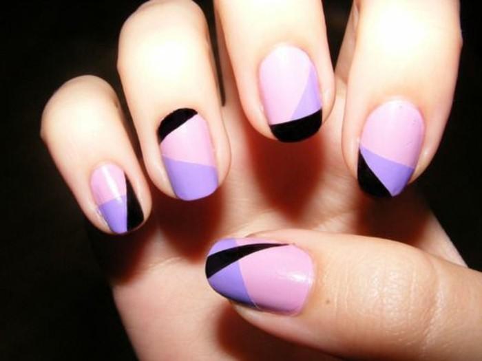 ongles-décorés-idee-deco-ongle-colorées-ongles-bien-decores-femme-moderne