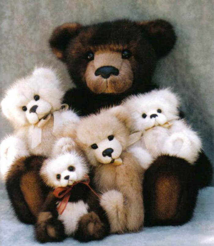 ourson-en-peluche-famille-d'oursons-en-peluche