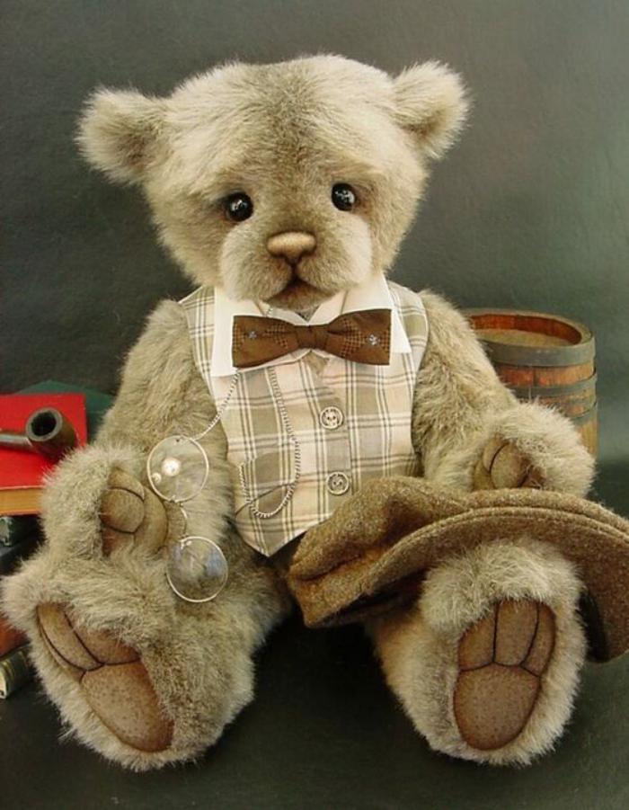 ourson-en-peluche-jouet-vintage-en-peluche