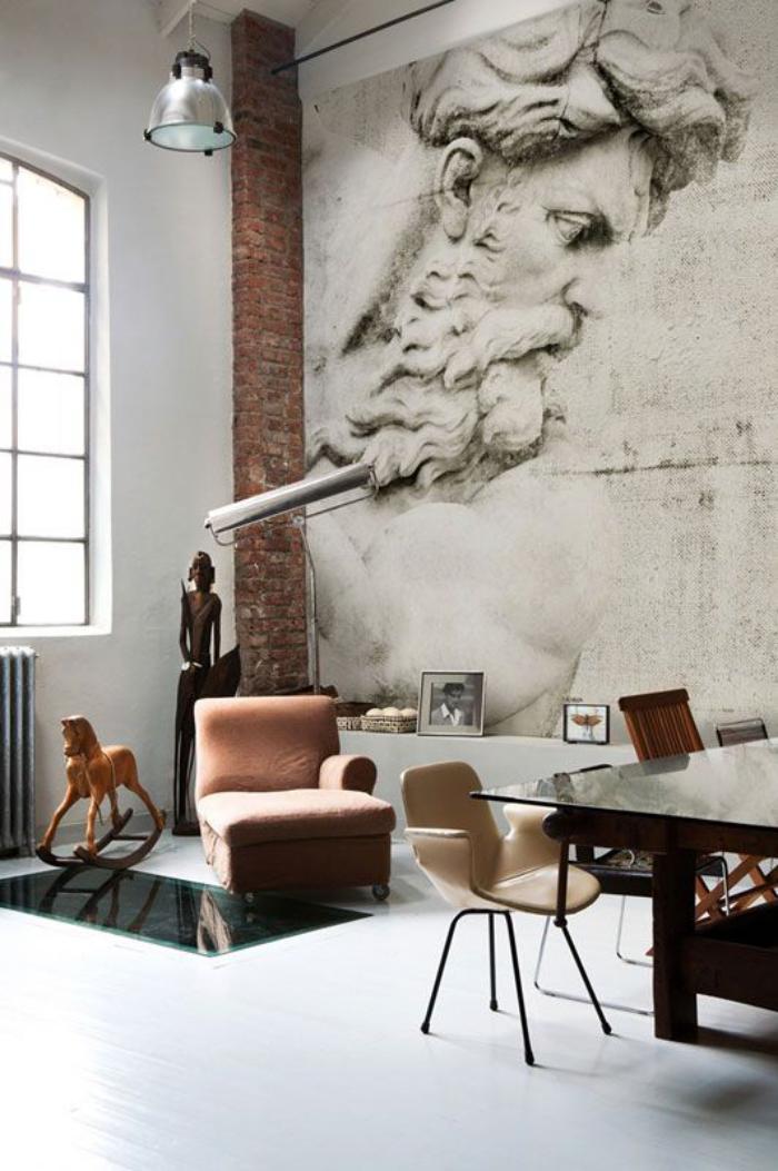 papier-peint-blanc-artistique-joli-intérieur-déco-industrielle