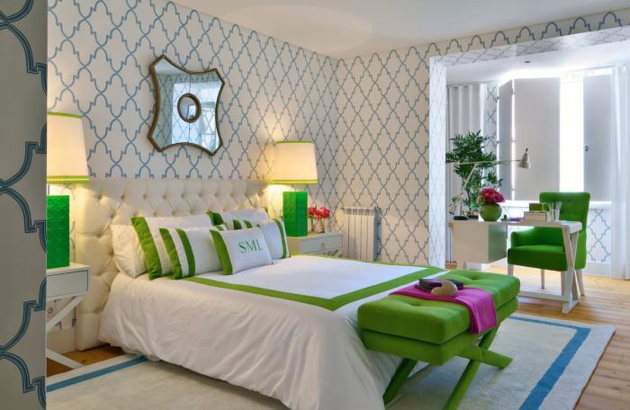 papier-peint-blanc-chambre-à-coucher-en-gamme-intéressante