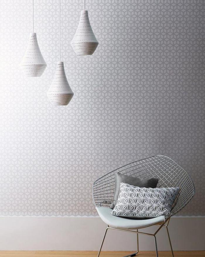 papier-peint-blanc-graphique-simple-et-stylé