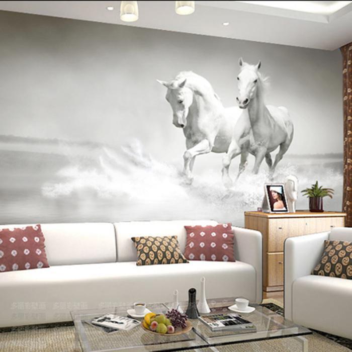 Sublimez vos int rieurs en mettant un papier peint blanc - Idee deco salon papier peint ...