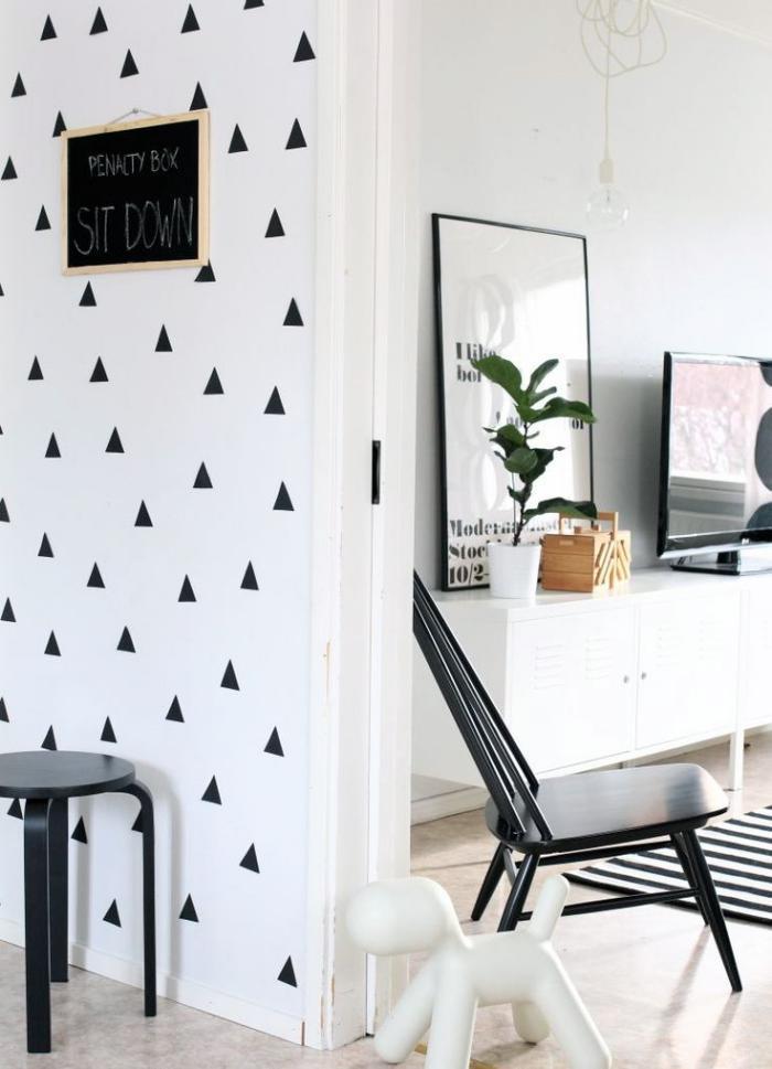 sublimez vos int rieurs en mettant un papier peint blanc. Black Bedroom Furniture Sets. Home Design Ideas