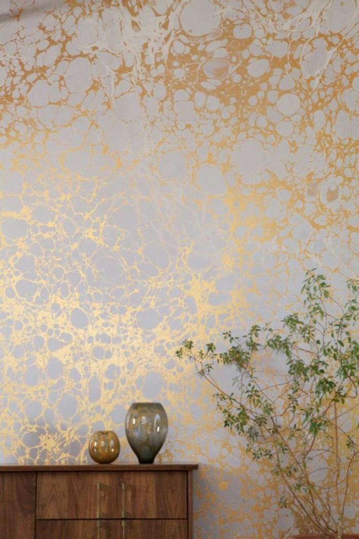 Les papiers peints design en 80 photos magnifiques - Papier peint design pour salon ...