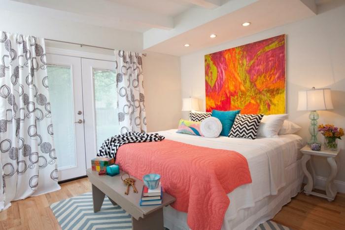 40 id es pour la d coration magnifique en couleur corail - Idee deco peinture salon moderne ...