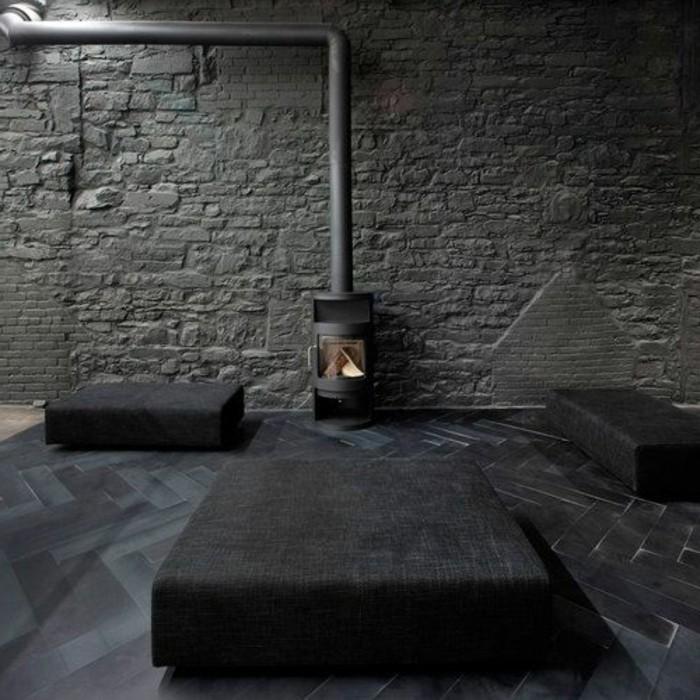 Parquet gris anthracite meilleures images d 39 inspiration for Peinture mur gris anthracite