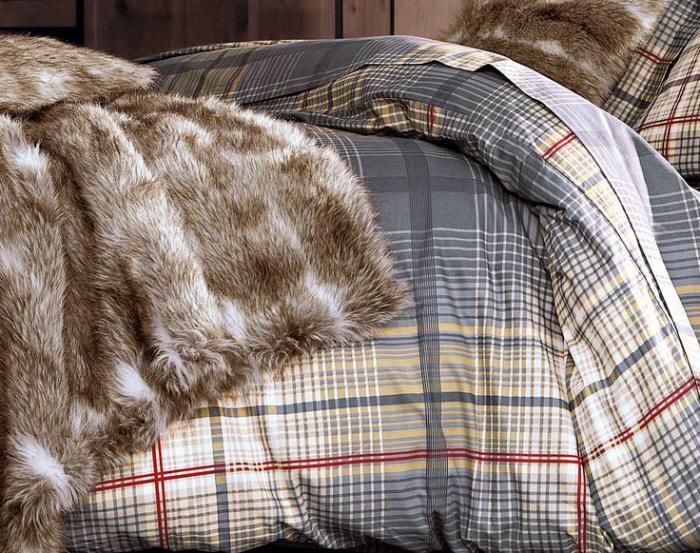 plaid-fausse-fourrure-beige-couettes-de-lit-carré-ecossais