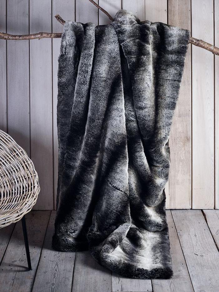 plaid-fausse-fourrure-gris-grande-couverture-chaude
