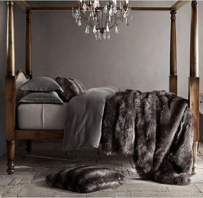 plaid-fausse-fourrure-pour-la-chambre-à-coucher