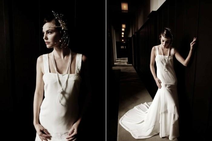 robe-mariee-courte-robe-de-mariée-en-dentelle-robe-marié-noir-et-blanc-photo