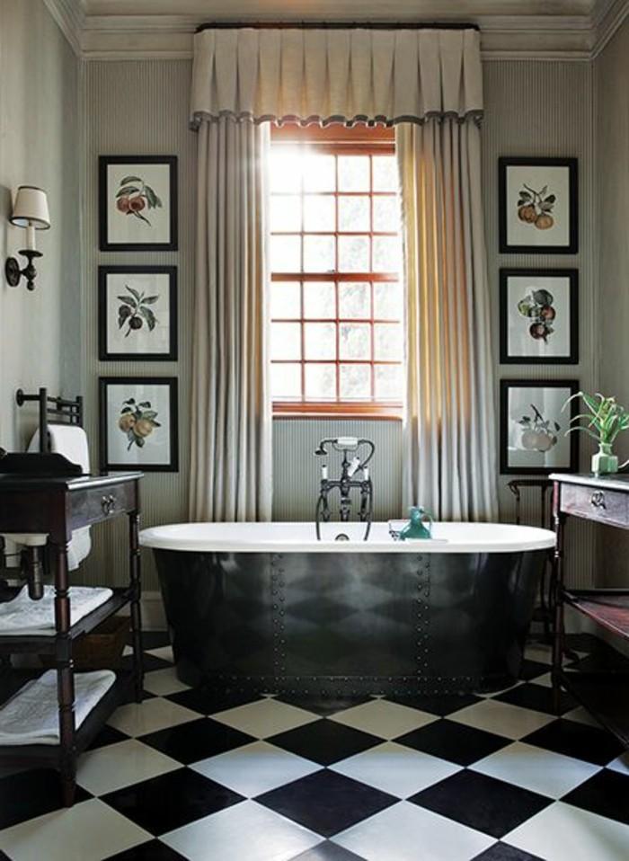 robinetterie-ancienne-meuble-salle-de-bain-retro-rideaux-retro-baignoire-fonte