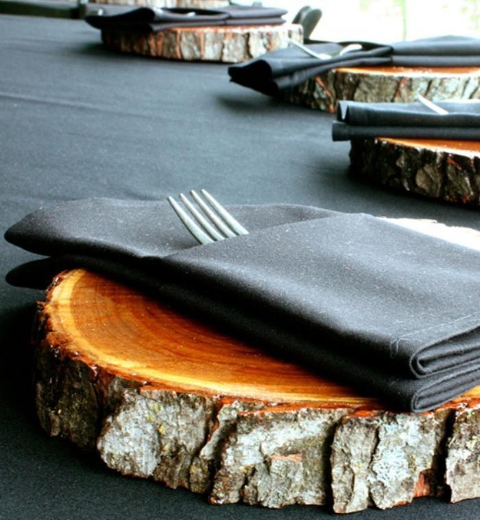 rondin-de-bois-déco-de-table-rustique-tranches-de-bois