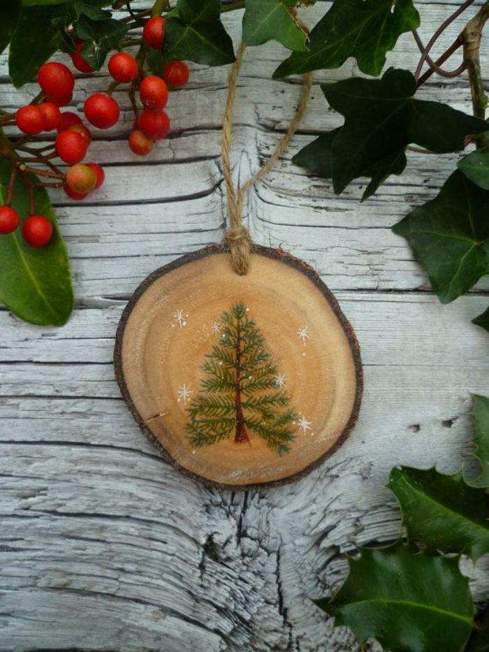 rondin-de-bois-décoration-chaleureuse-avec-morceau-de-bois