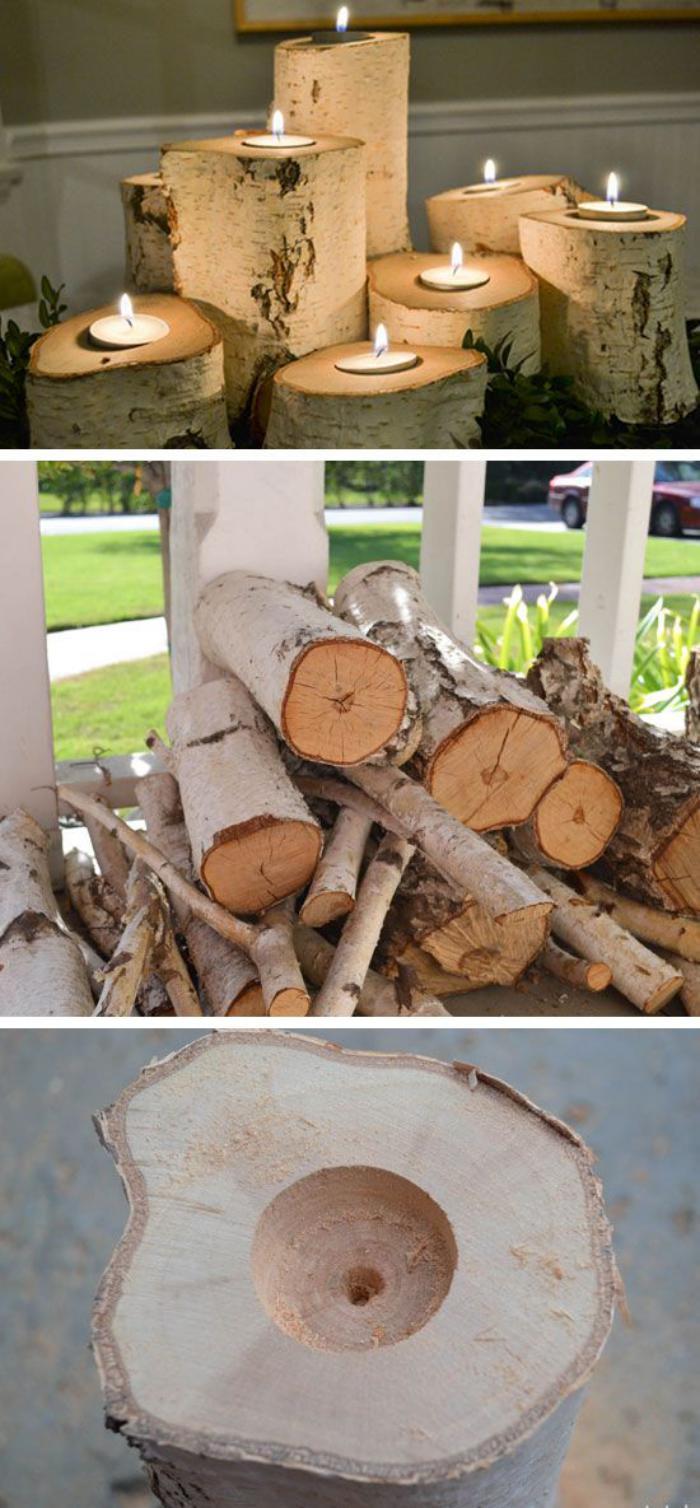 Que faire avec un rondin de bois - idées en photos - Archzine.fr - Rondin De Bois Deco Jardin