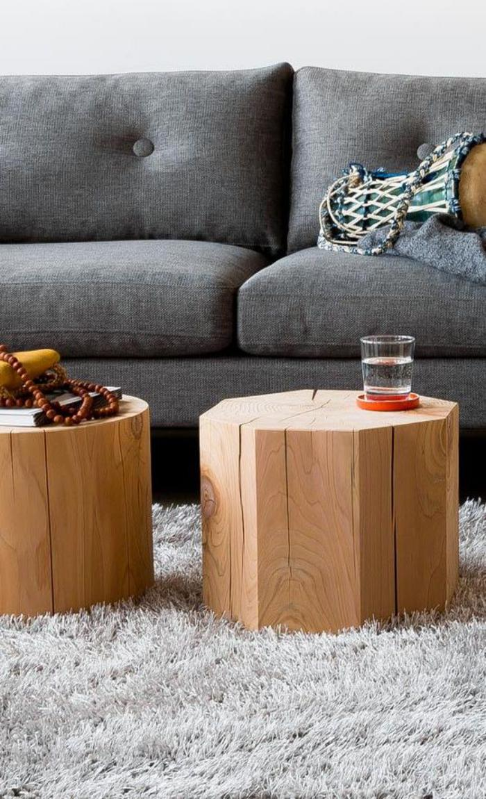Que faire avec un rondin de bois id es en photos for Table basse rondin de bois
