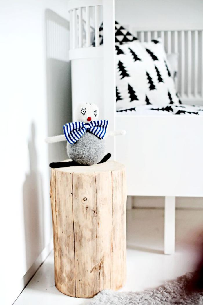 Que faire avec un rondin de bois id es en photos for Deco toilet zwart en wit