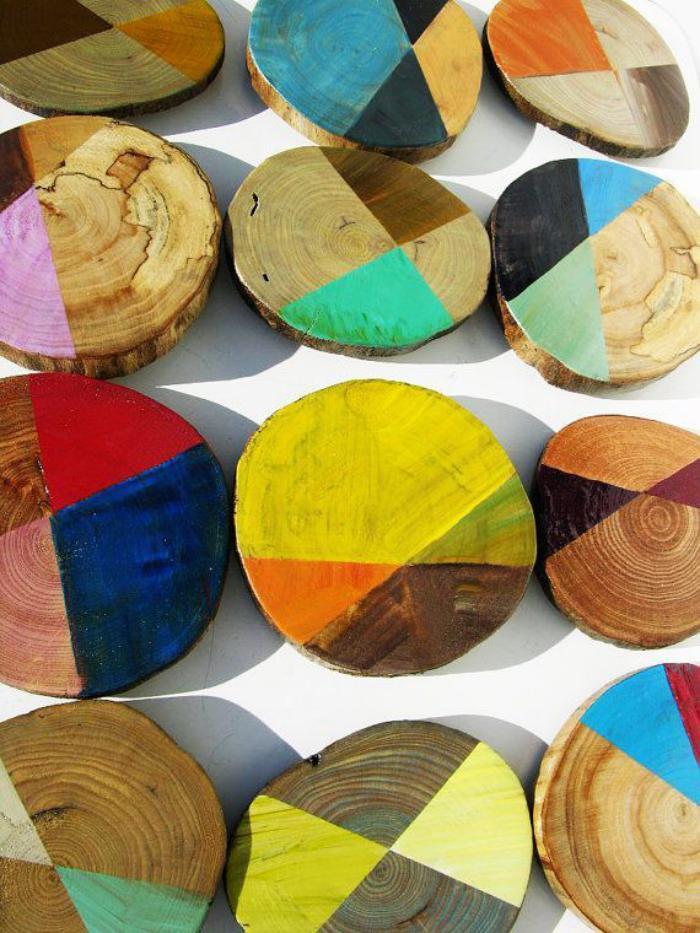 rondin-de-bois-tranches-de-bois-rondins-peintes-en-couleurs-vives