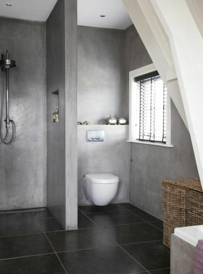 Best Salle De Bain Beton Gris Photos  Amazing House Design