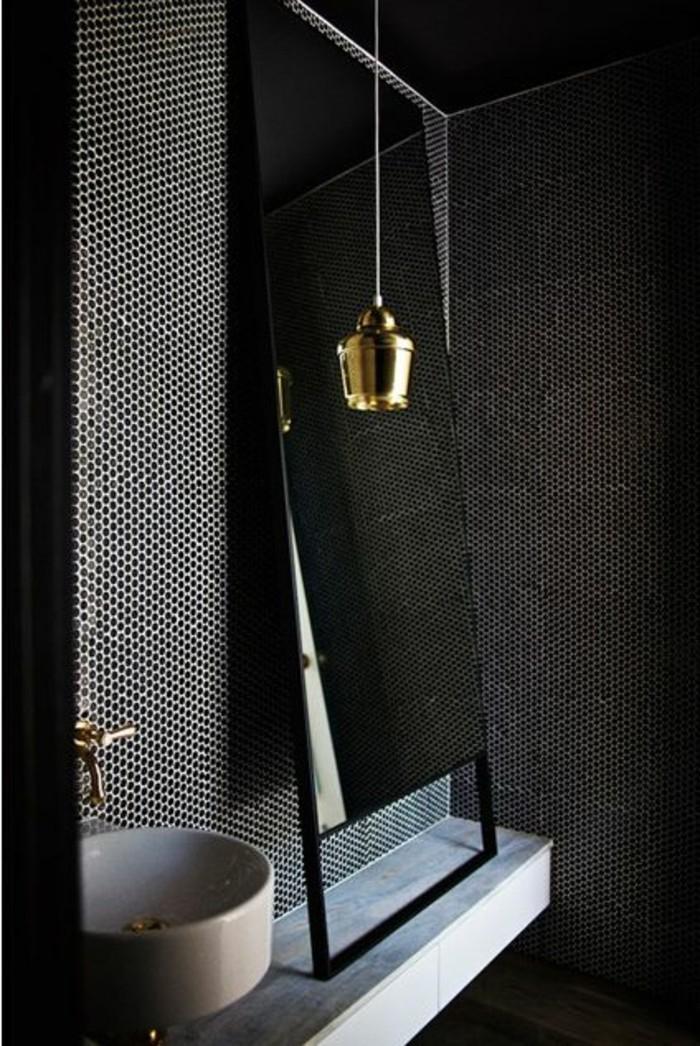 Faience salle de bain imitation marbre salle de bains - Salle de bain faience noire ...