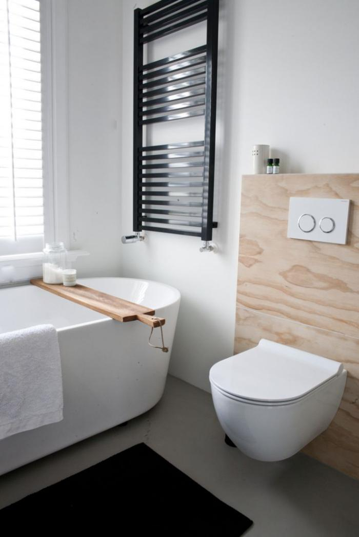 La salle de bain scandinave en 40 photos inspirantes - Salle de bain blanc et bois ...