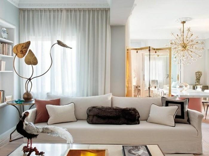 salle-de-séjour-déco-canapé-cuir-vintage-canape-cuir-vintage-beige