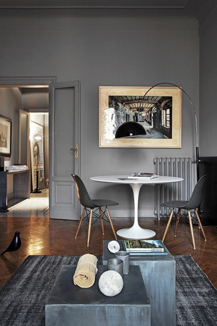 Le gris anthracite en 45 photos d 39 int rieur - Couleur pour le salon ...
