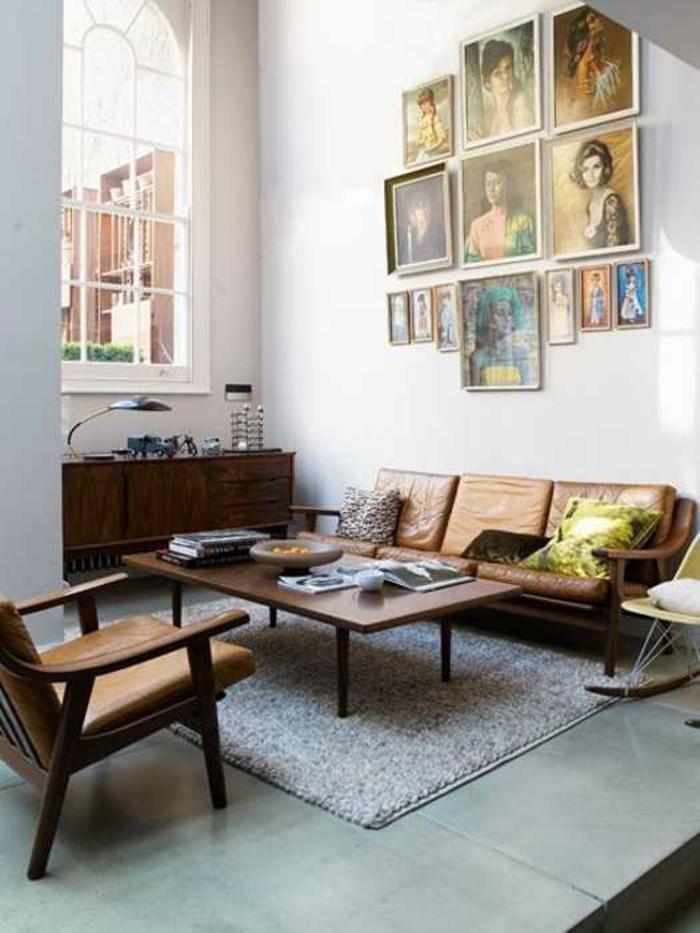 salon-bien-aménagé-canapé-vintage-canapes-vintage-beige