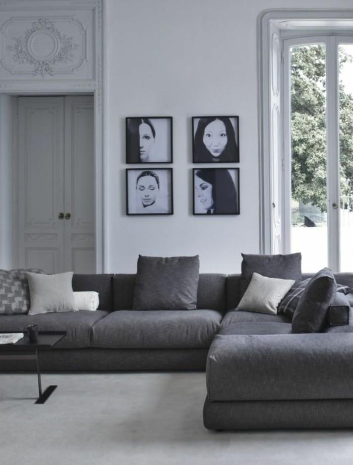 41 images de canap d angle gris qui vous inspire - Salon avec 2 canapes ...