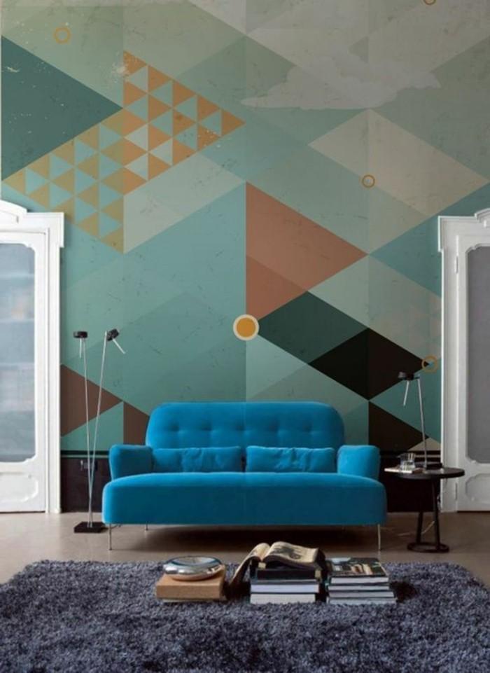 salon-moderne-tapis-gris-foncé-meubles-colores-pour-le-salon-sol-beige