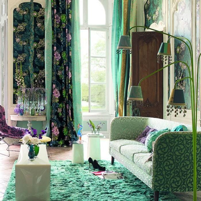 salon-vert-bleu-canape-vert-bleu-deco-baroque-pas-cher-meubles-baroques-salon-moderne