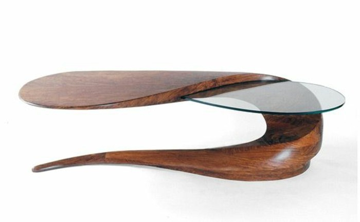 Table Basse Design Verre Et Bois – Phaichicom -> Table Basse Verre Fly