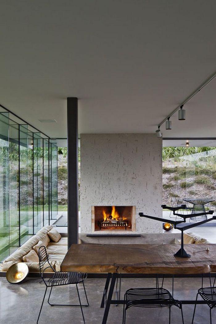 table-rustique-grande-table-rustique-de-bois-et-fer-salon-design-de-maison-contemporaine