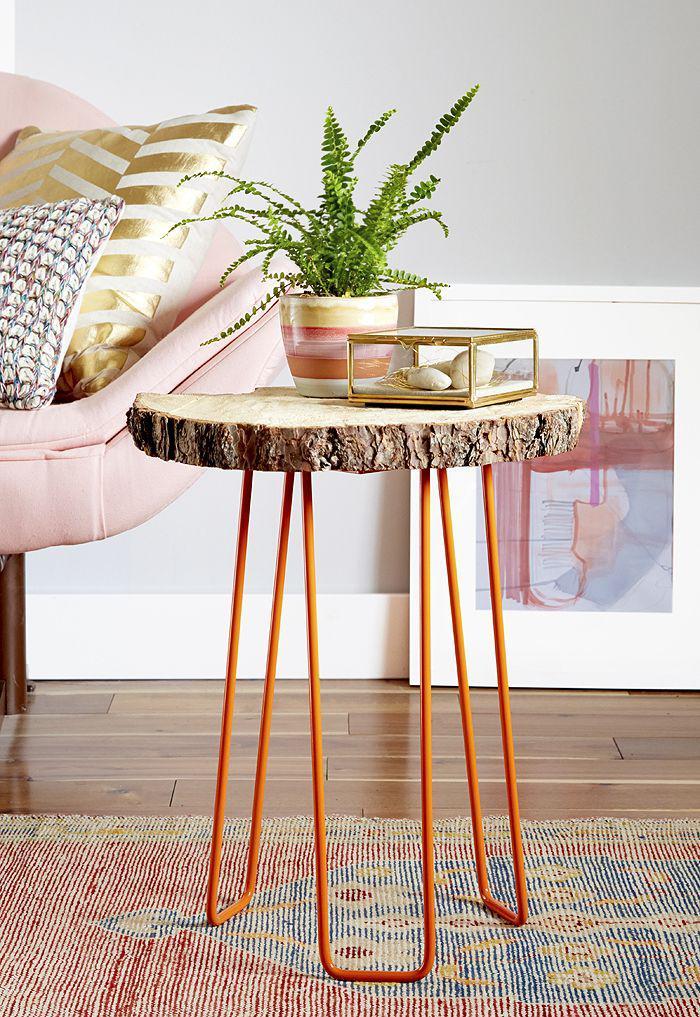 table-rustique-petite-table-en-bois-brut-table-avec-tronc-de-bois