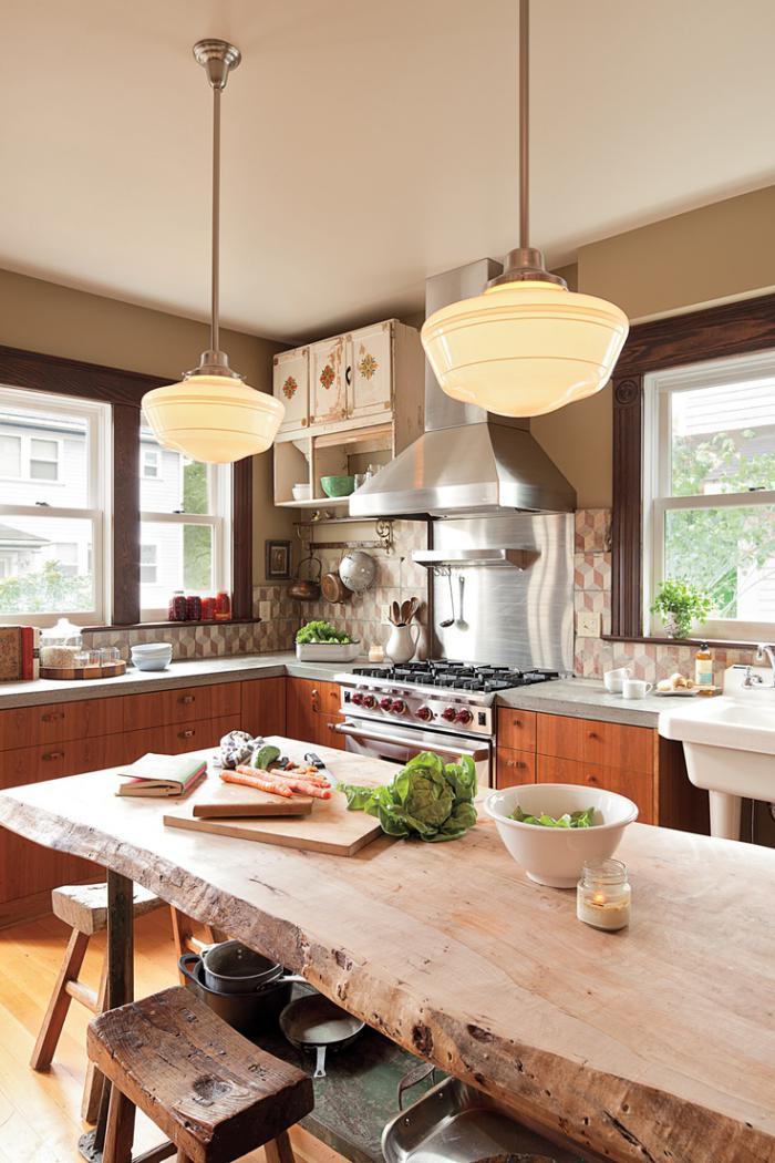 D corez vos int rieurs avec une belle table rustique - Table cuisine bois brut ...