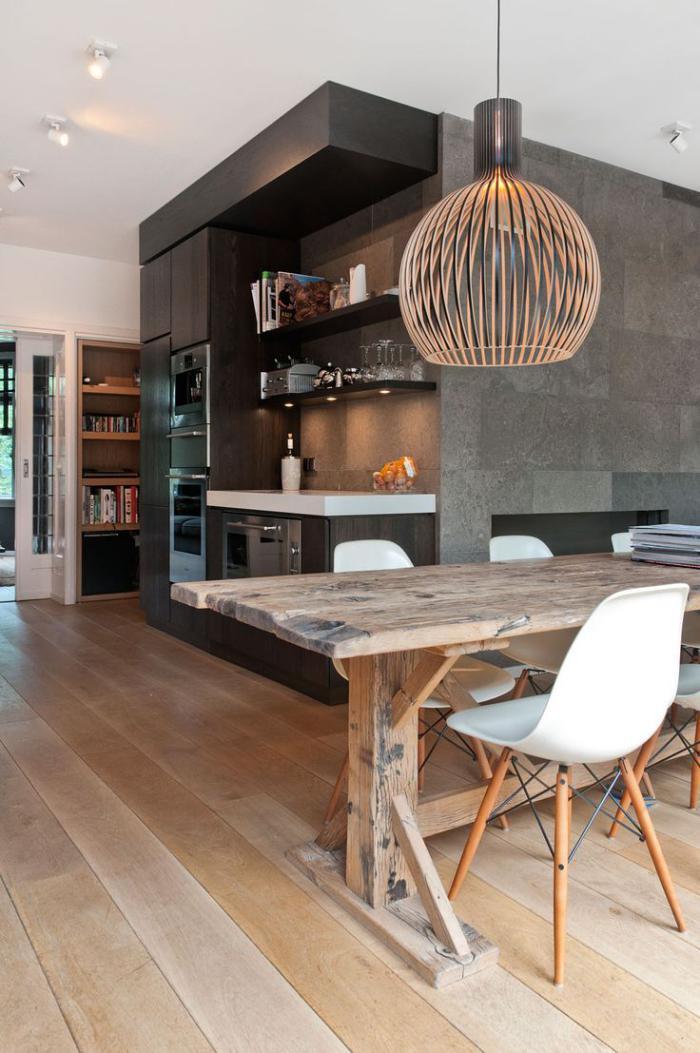 D corez vos int rieurs avec une belle table rustique for Chaise cuisine rustique