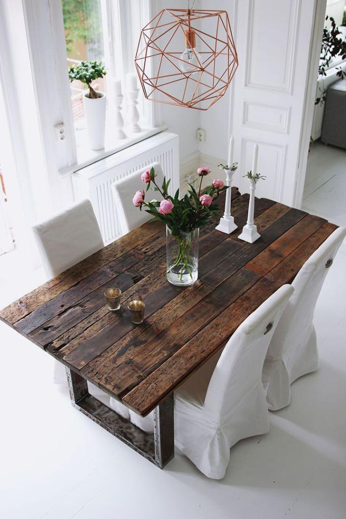 table-rustique-table-en-bois-rectangulaire-table-bois-et-acier
