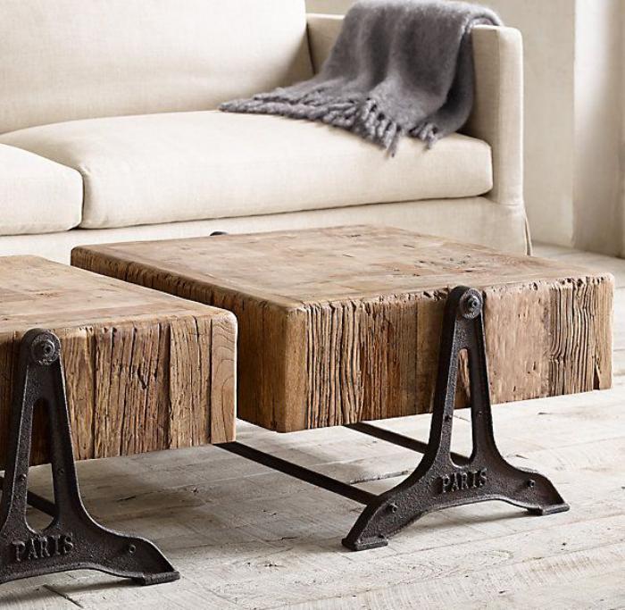 D corez vos int rieurs avec une belle table rustique - Table en bois rustique ...